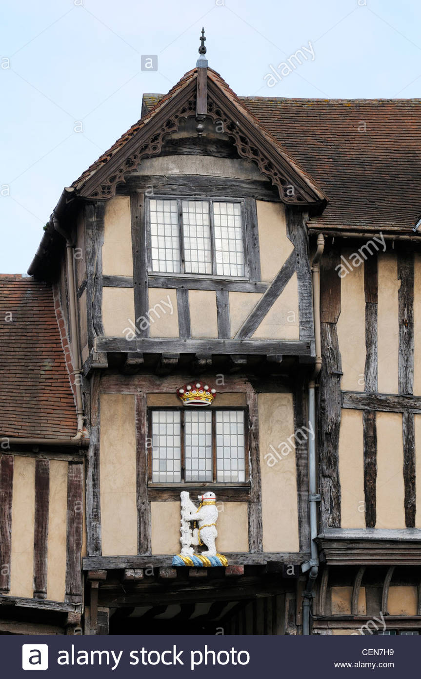 The Lord Leycester Hospital, Alms House,  Warwick, Warwickshire, England - Stock Image