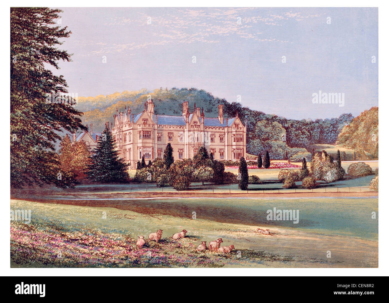 Mamhead Park estate country house Robert William Newman Anthony Salvin Devon South West England UK - Stock Image