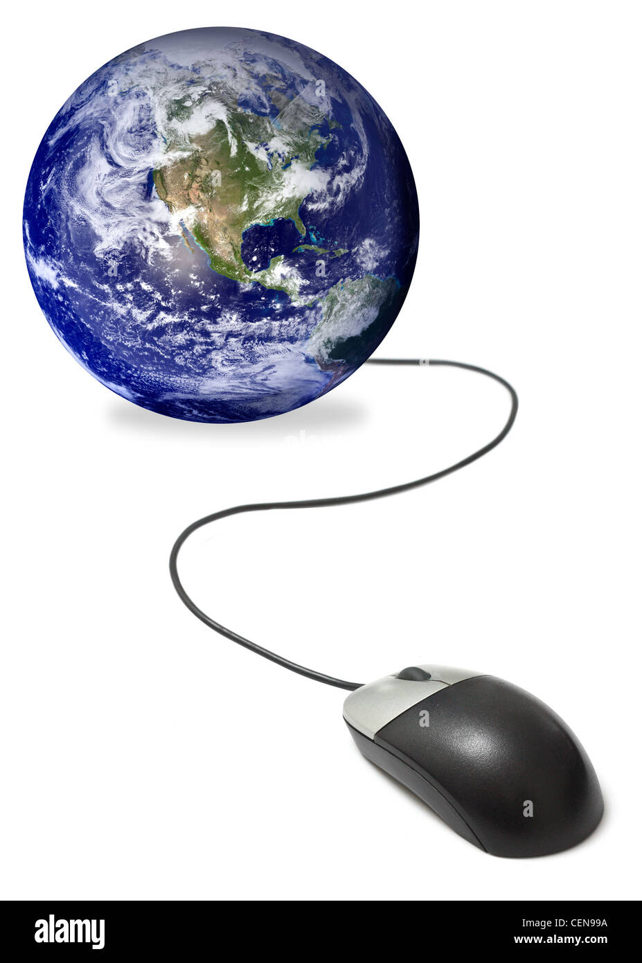Connected to the world - Stock Image