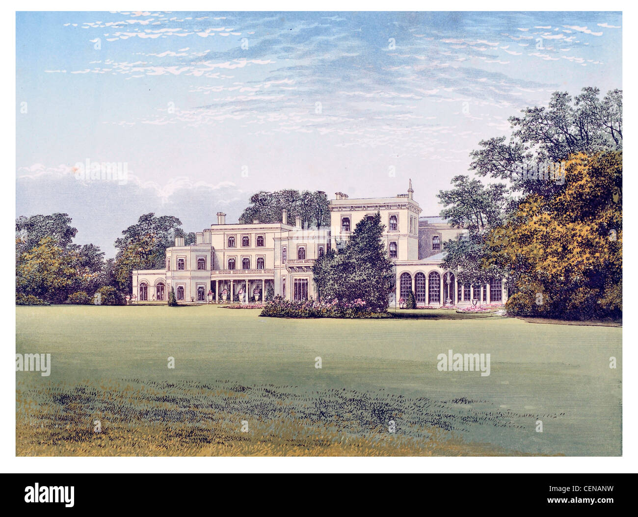 Danesfield House Medmenham Buckinghamshire England UK Parkland Park Mansion Manor House Stately Home Hall Palace Stock Photo