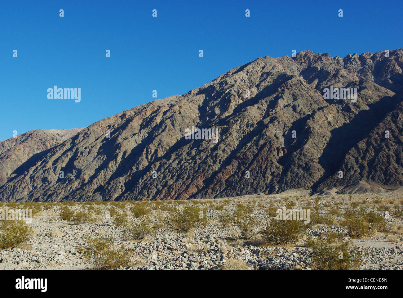 Desert and impressing mountains, Death Valley, California - Stock Image