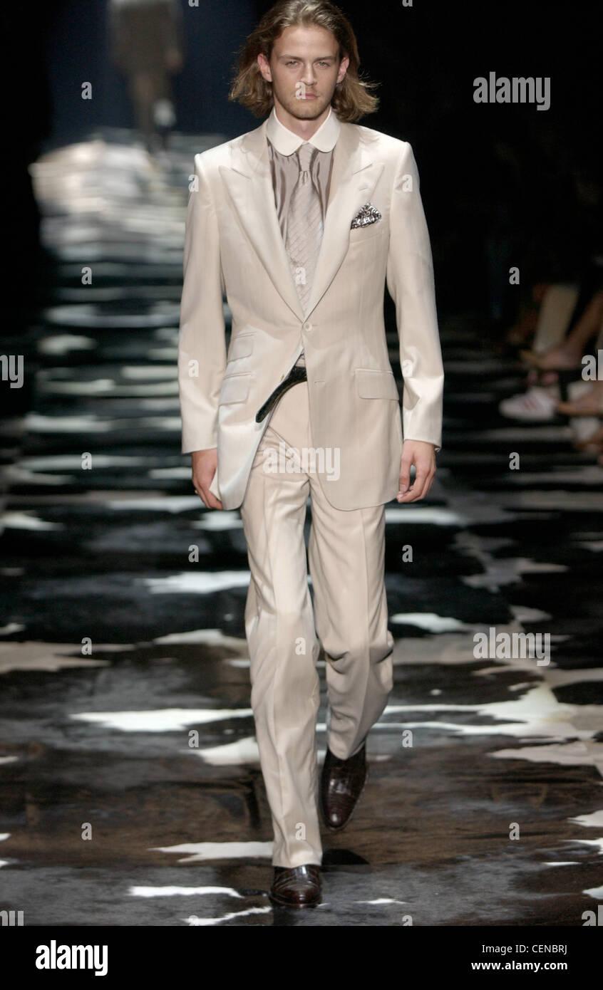 dbb4dffb44842 Gucci Ready to Wear Milan spring summer Menswear fashion show Model chin  length fair hair and