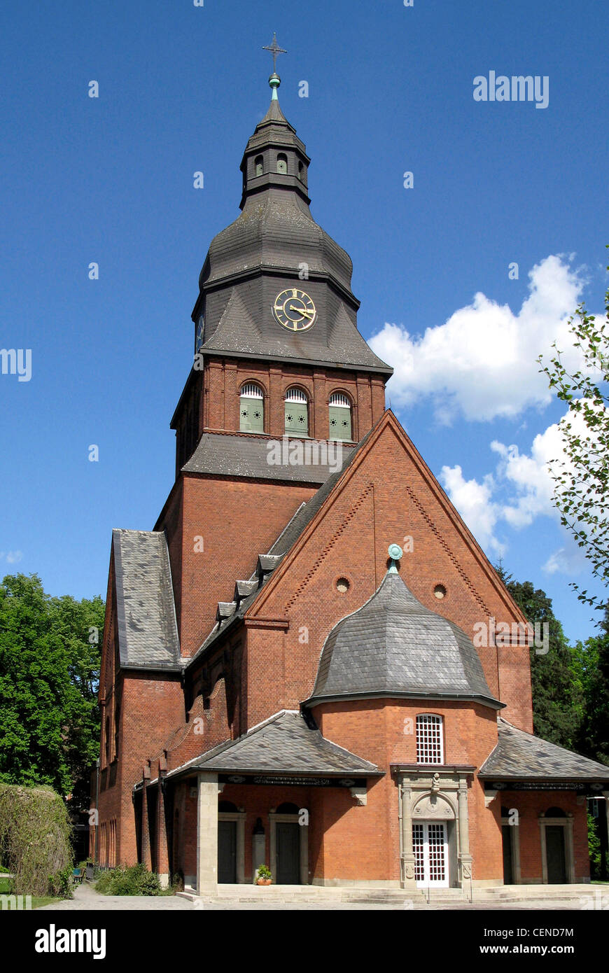 Protestant church Johannesstift of Spandau in Berlin. - Stock Image
