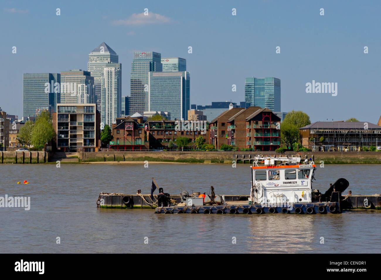 UK, England, London, Canary Wharf Isle of Dogs - Stock Image