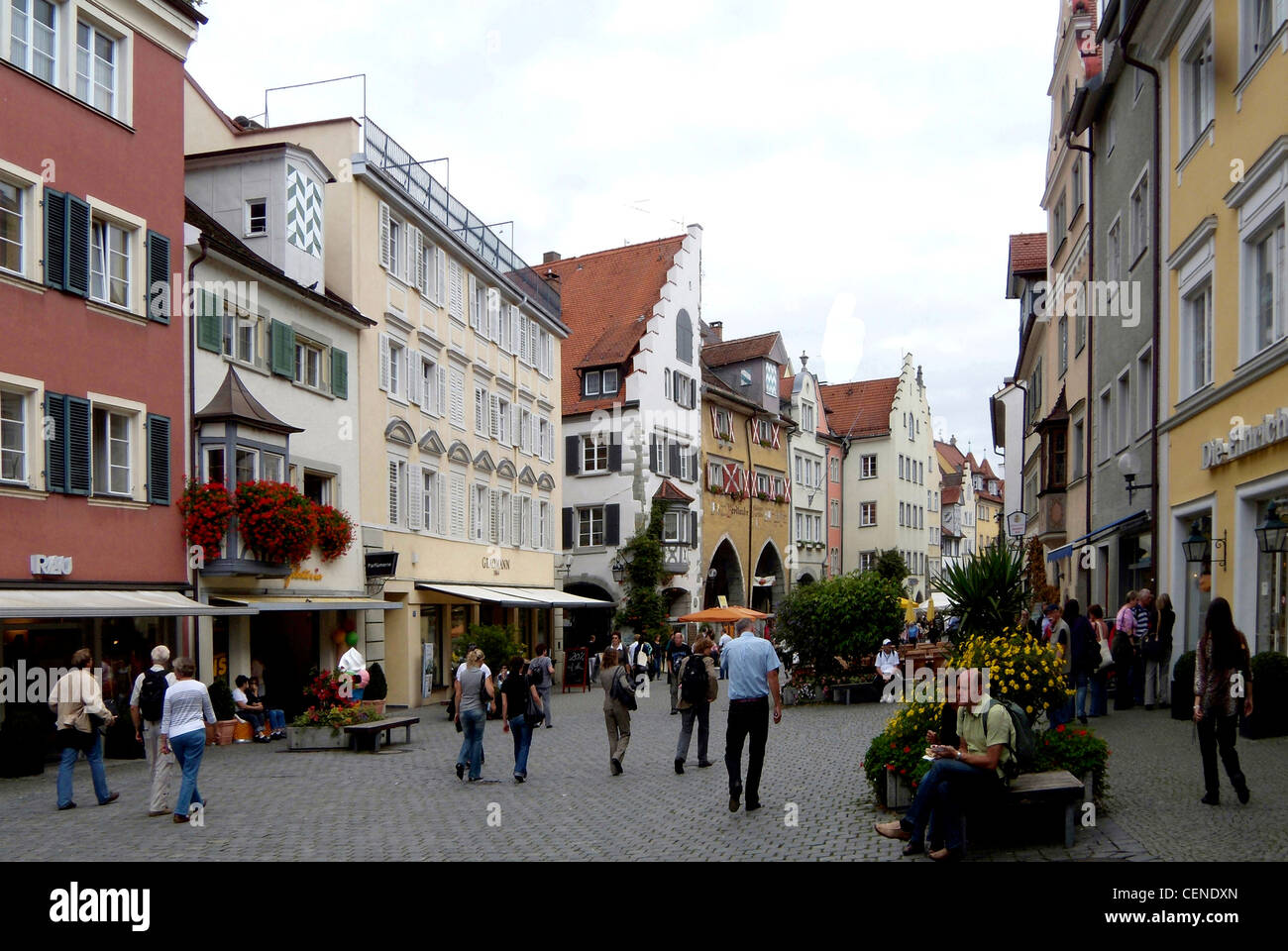 Old town of Lindau in Lake Constance. Stock Photo