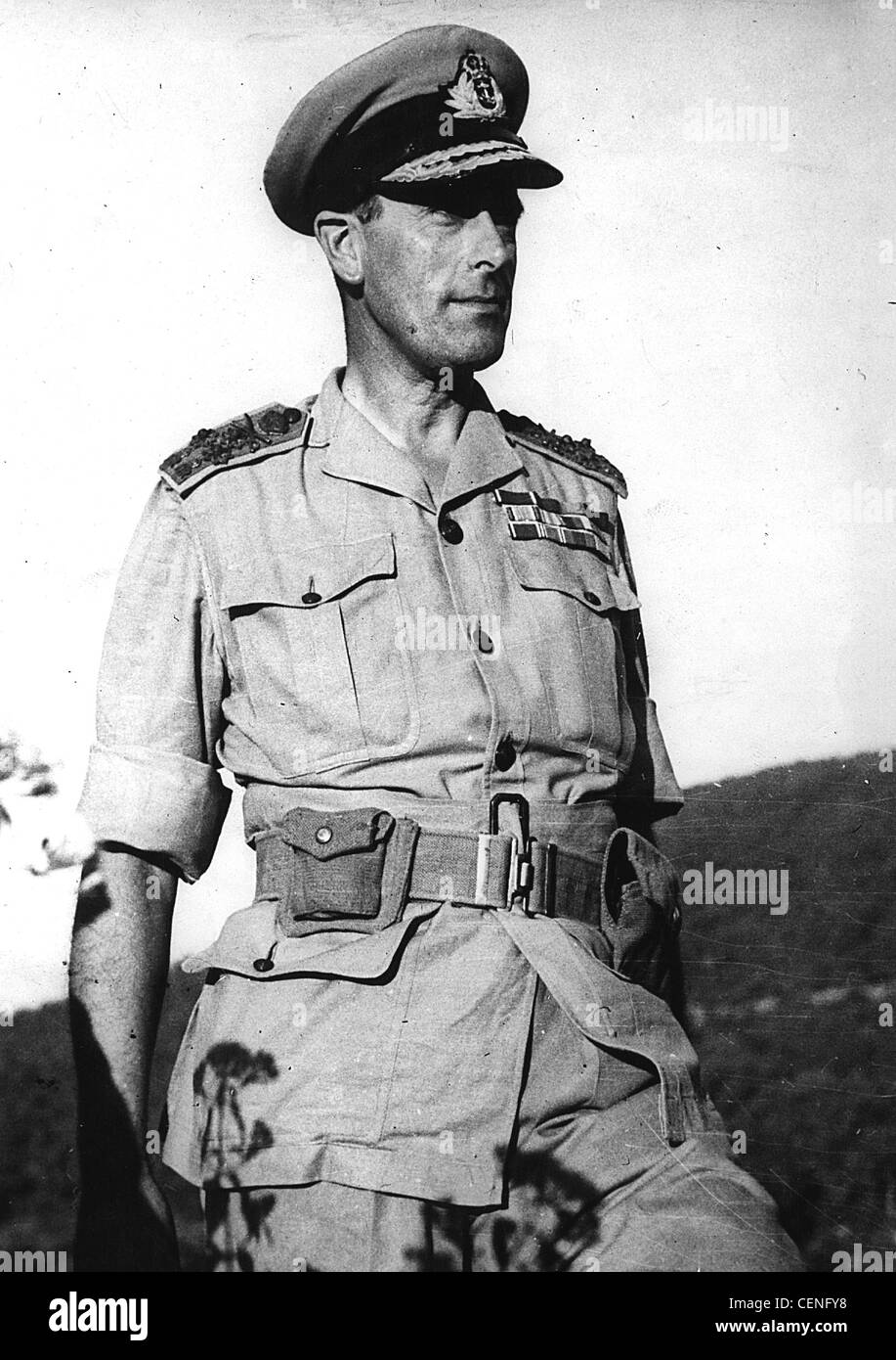 Admiral of the Fleet Louis Mountbatten, 1st Earl Mountbatten of Burma as head of Allied forces South East Asia Command - Stock Image