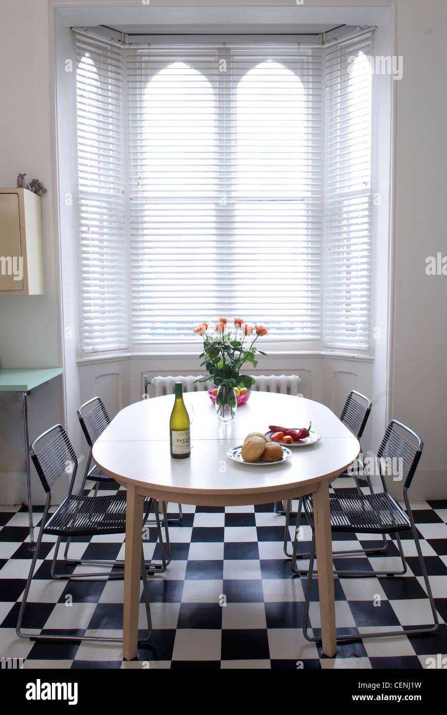 Brighton Interior Detail Image Of The Fifties Style Kitchen Oval Stock Photo Alamy