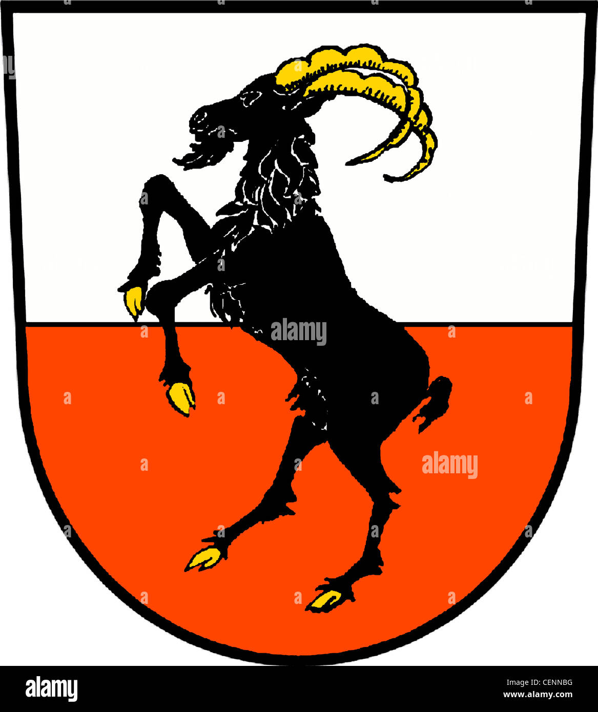 Coat of arms of the city of Jueterbog of the Mark Brandenburg. - Stock Image