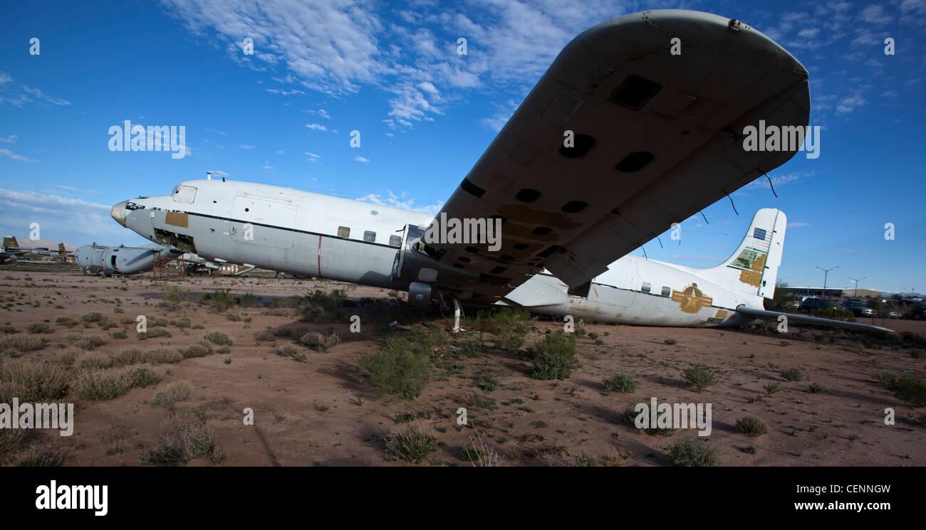 Airplane Salvage Yard Stock Photos & Airplane Salvage Yard Stock