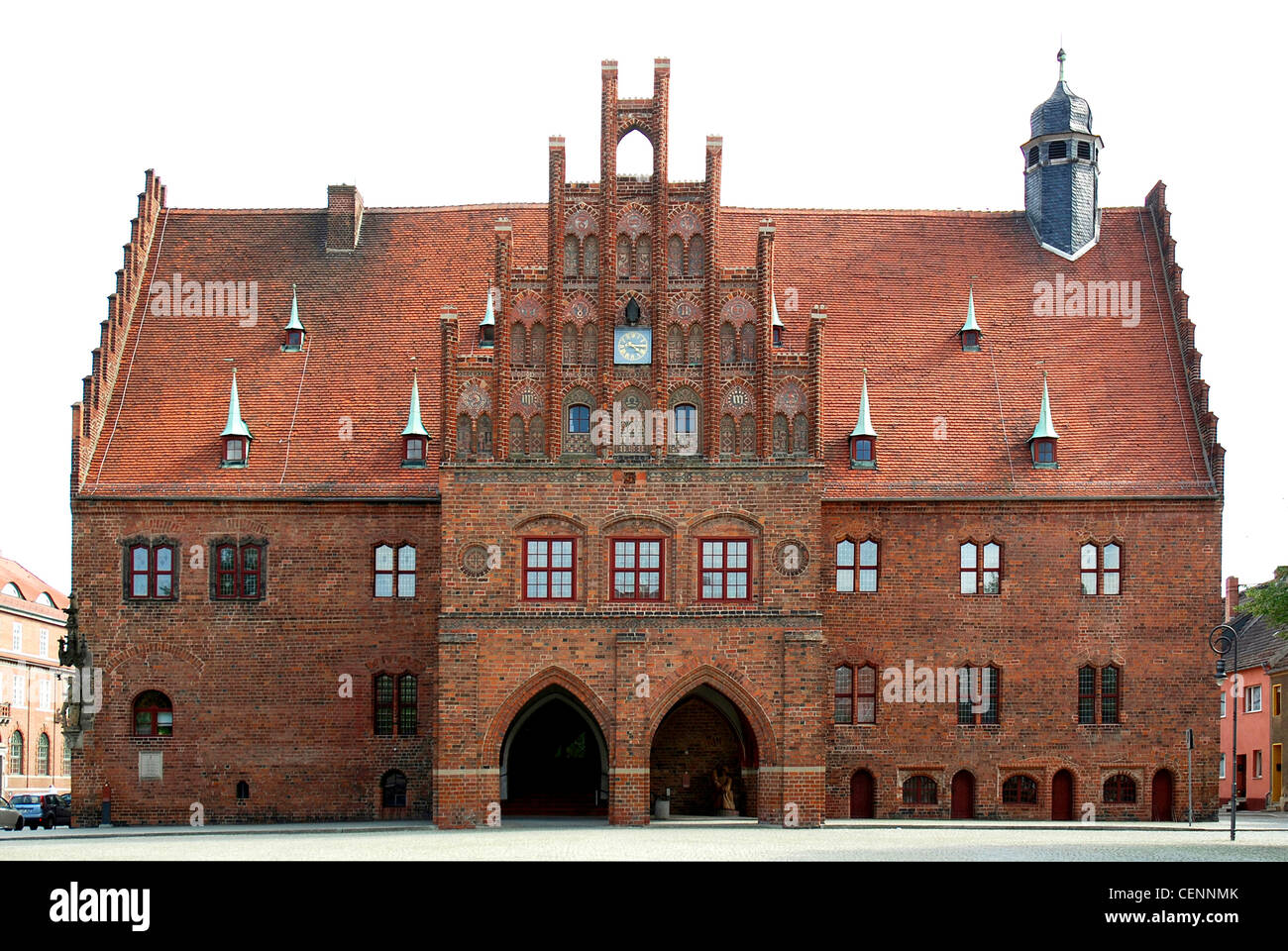 City hall of the Brandenburg city of Jueterbog. - Stock Image