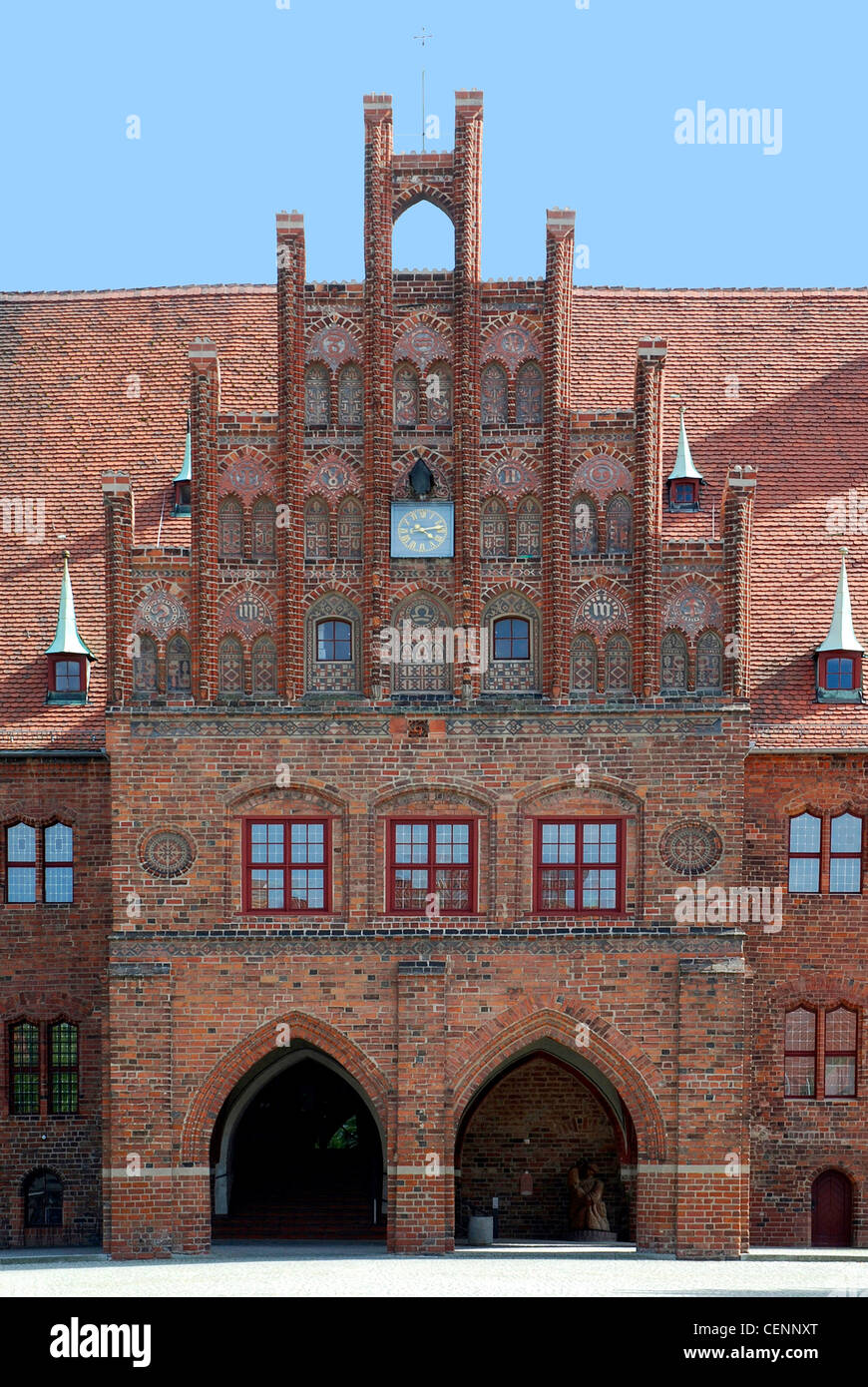Portal of the City hall of the Brandenburg city of Jueterbog. - Stock Image