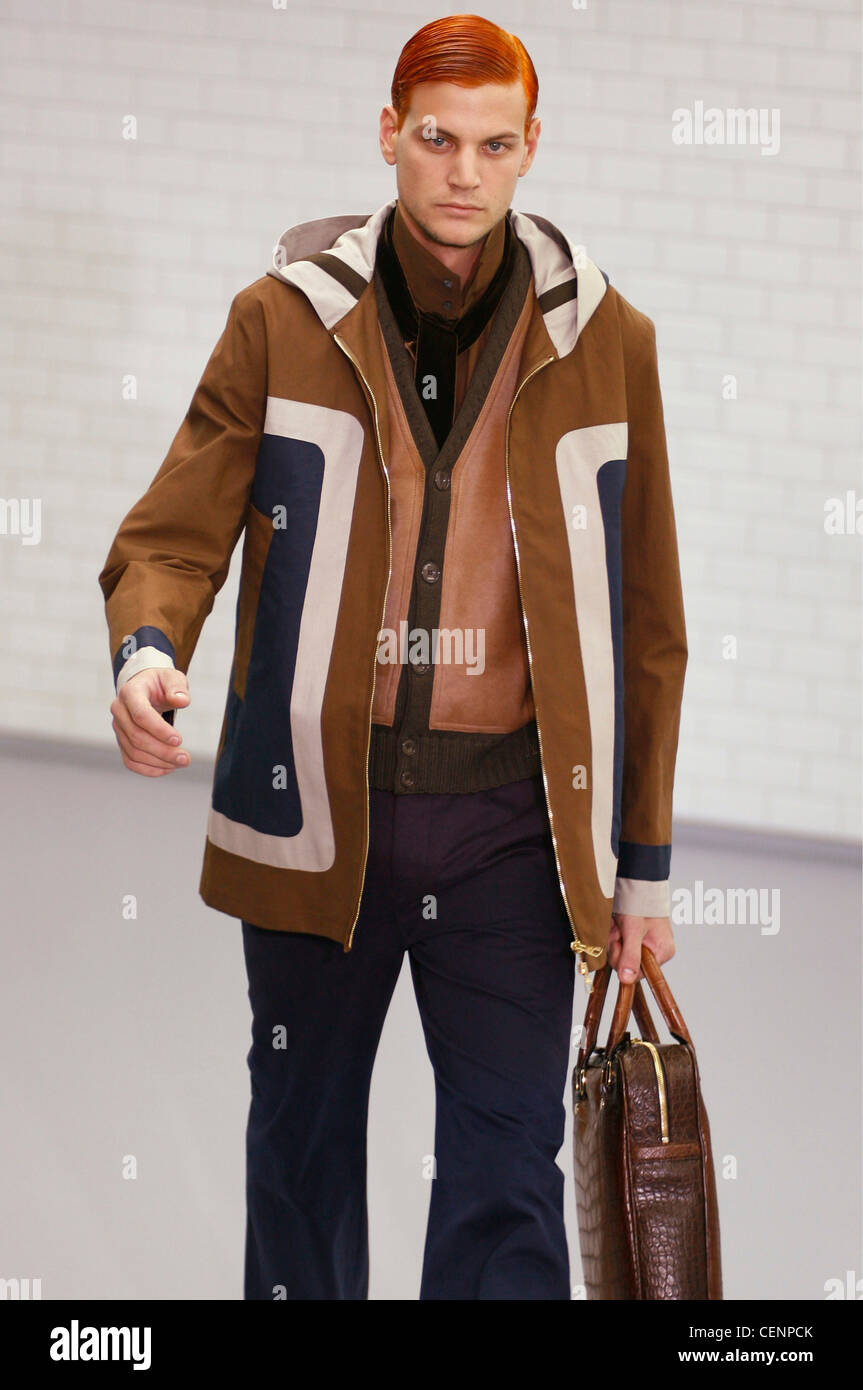 1bed4b9504 Louis Vuitton Menswear Paris Ready to Wear Model red hair combed ...