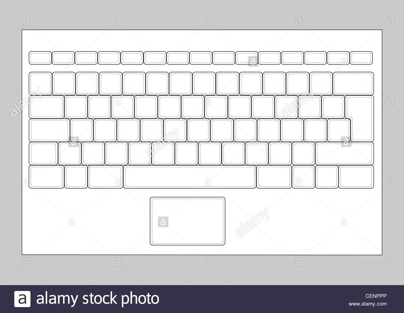 Brilliant Laptop Blank Keyboard Layout Computer Input Element Stock Photo Wiring Cloud Hisonuggs Outletorg