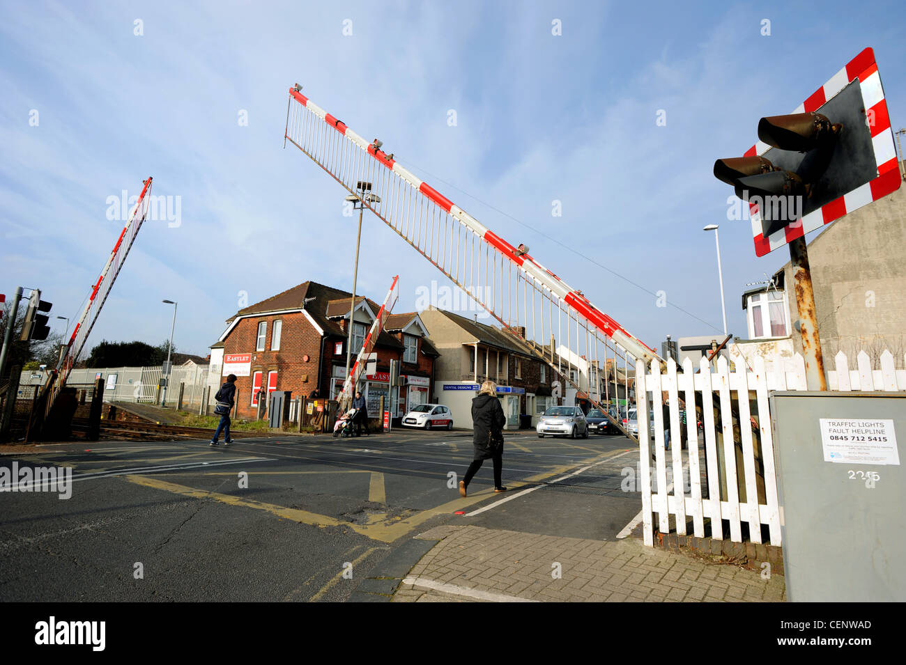 West Worthing level crossing, one of the worst in the country and has its own Twitter account - Stock Image