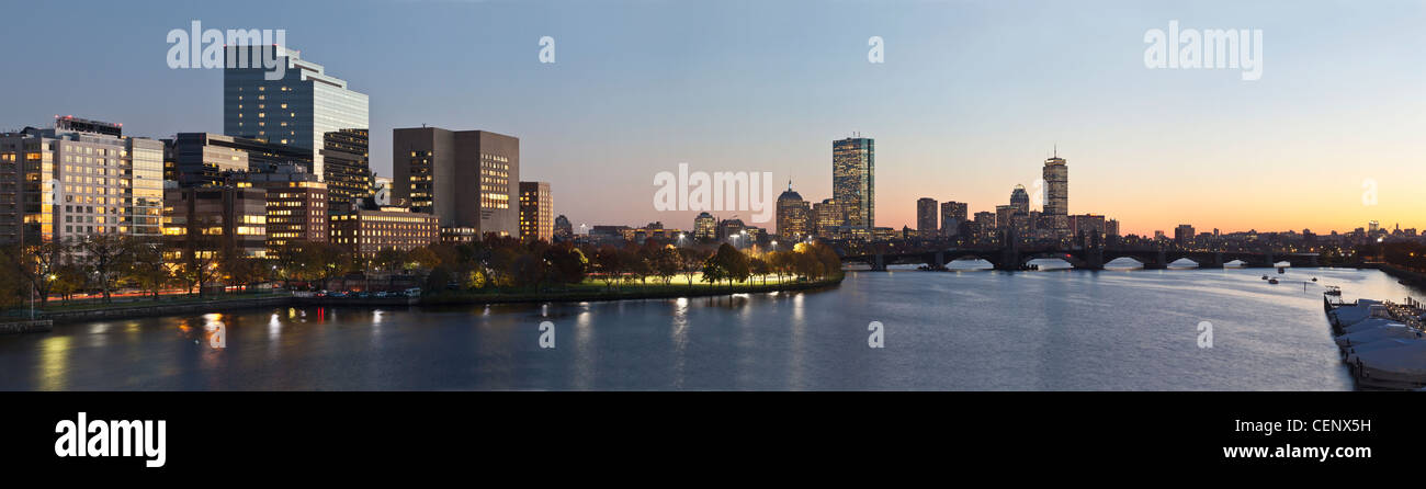 Buildings at the waterfront, Charles River, Boston, Massachusetts, USA - Stock Image