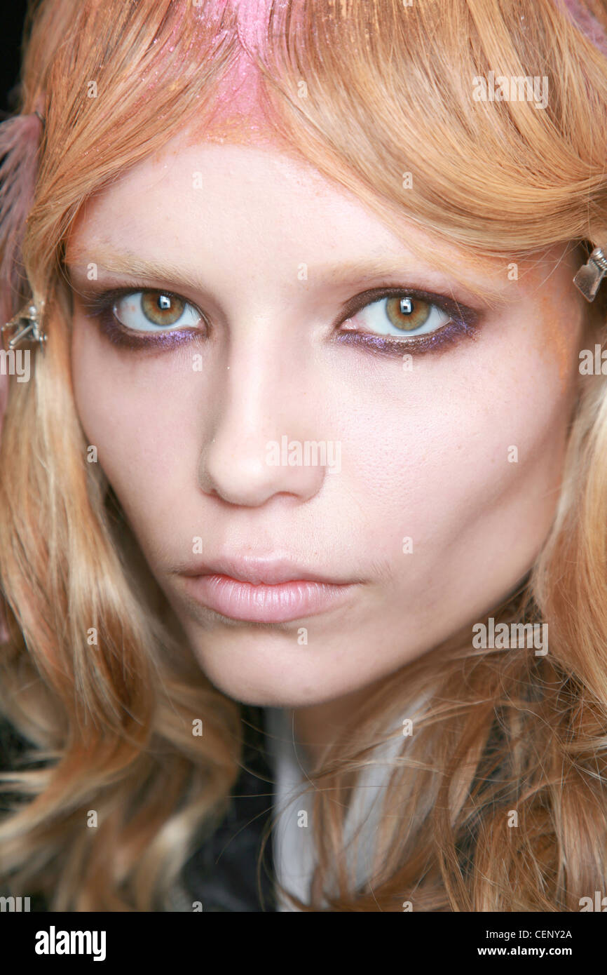 Nina Ricci Paris Backstage Spring Summer Model Strawberry Blonde