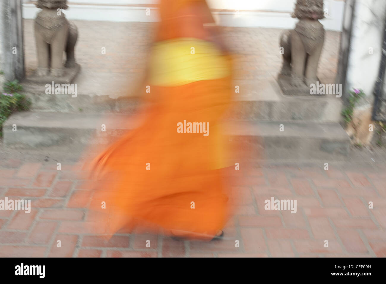 Buddist Monk's robes - Stock Image