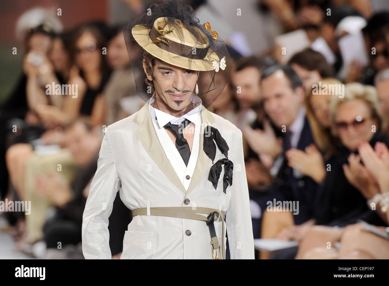 e5ea70f63cd Christian Dior Haute Couture Autumn Winter 2010 11 Fashion designer John  Galliano after his show