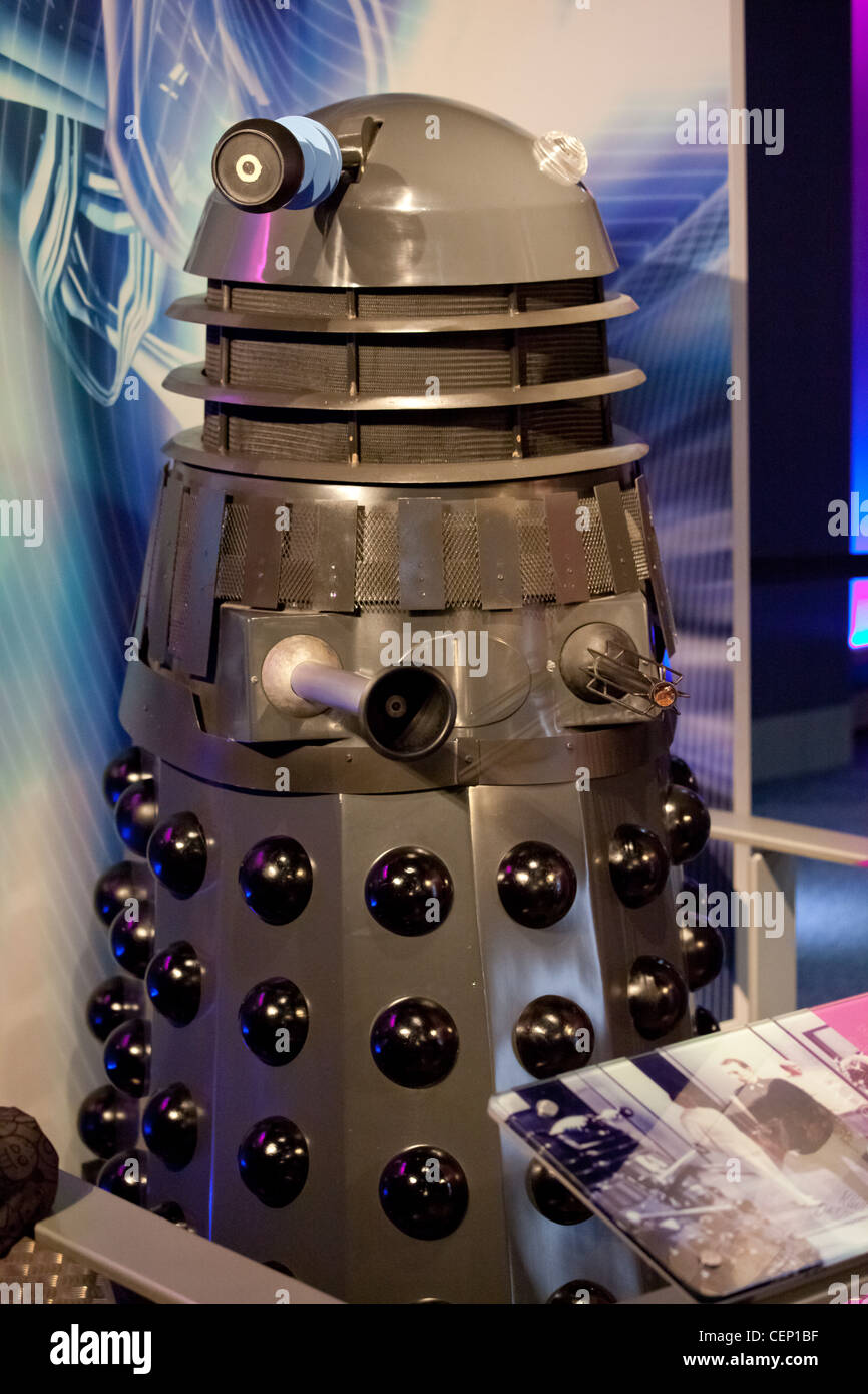 A Dalek, arch enemy of The Doctor, from the long running TV series, Doctor Who - Stock Image