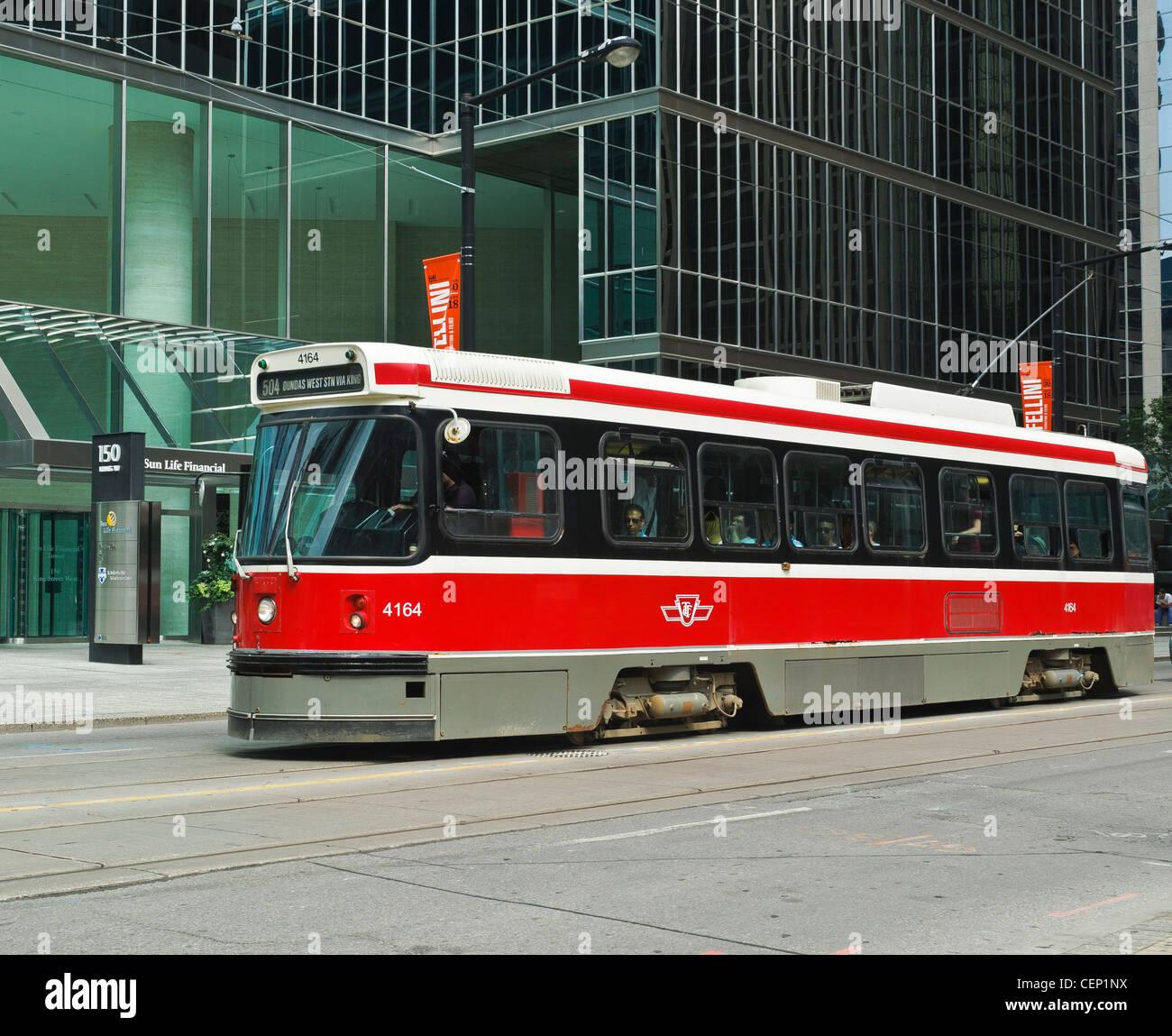 Toronto Streetcar,known as the Red Rocket,Ontario, Canada - Stock Image