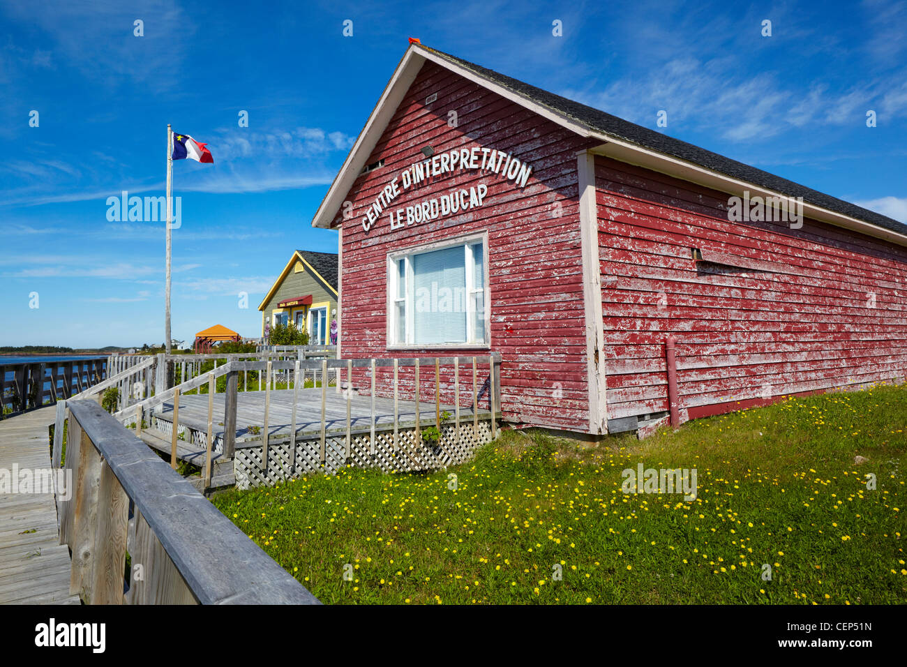 Centre d'interprétation Le Bord du Cap (Interpretation Center), Natashquan, Canada - Stock Image