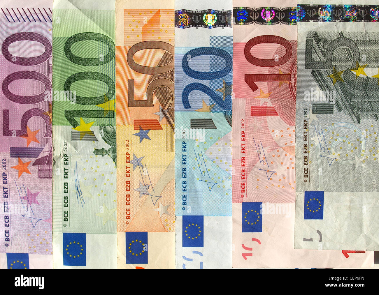 Euro banknote (currency of the European Union) - Stock Image