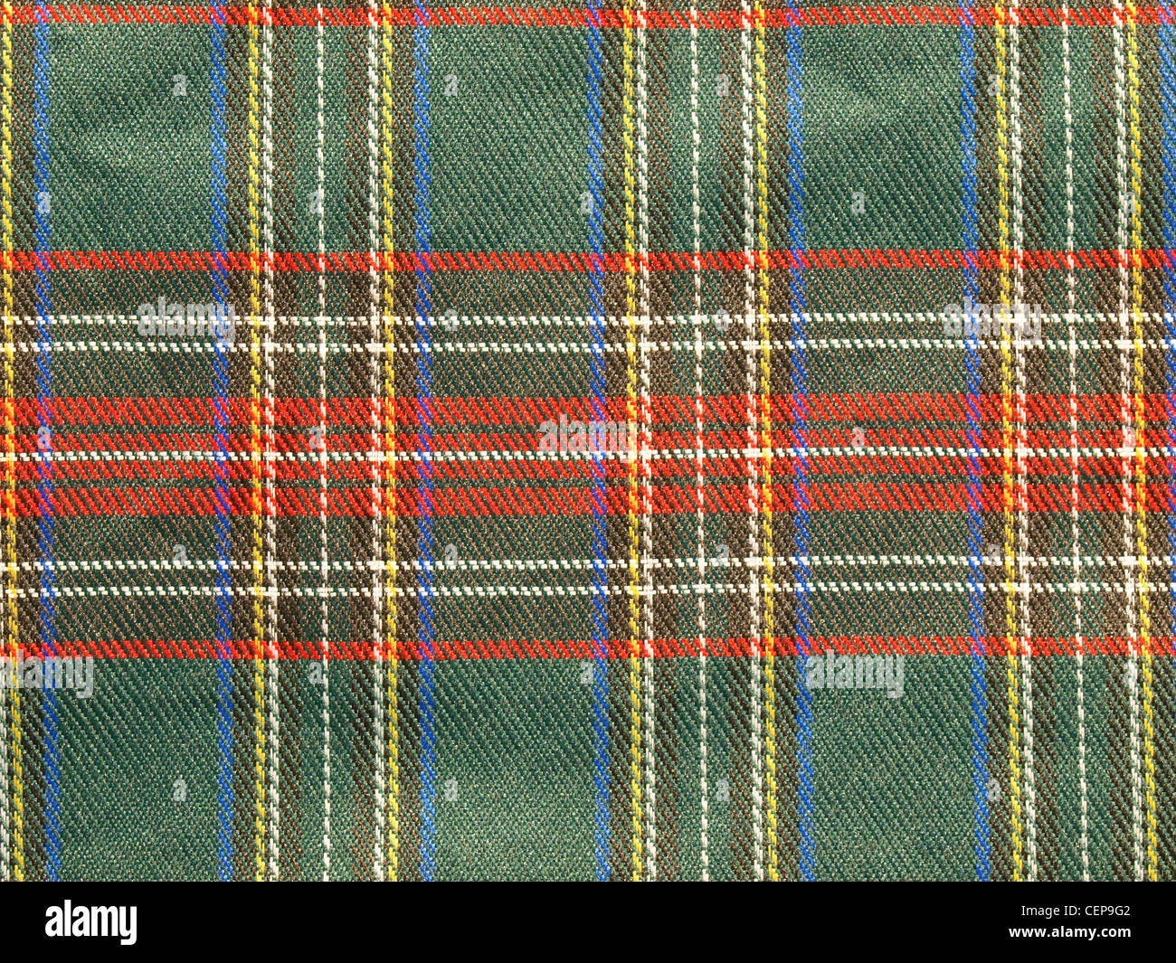 Traditional Scottish tartan textile pattern useful as a background - Stock Image