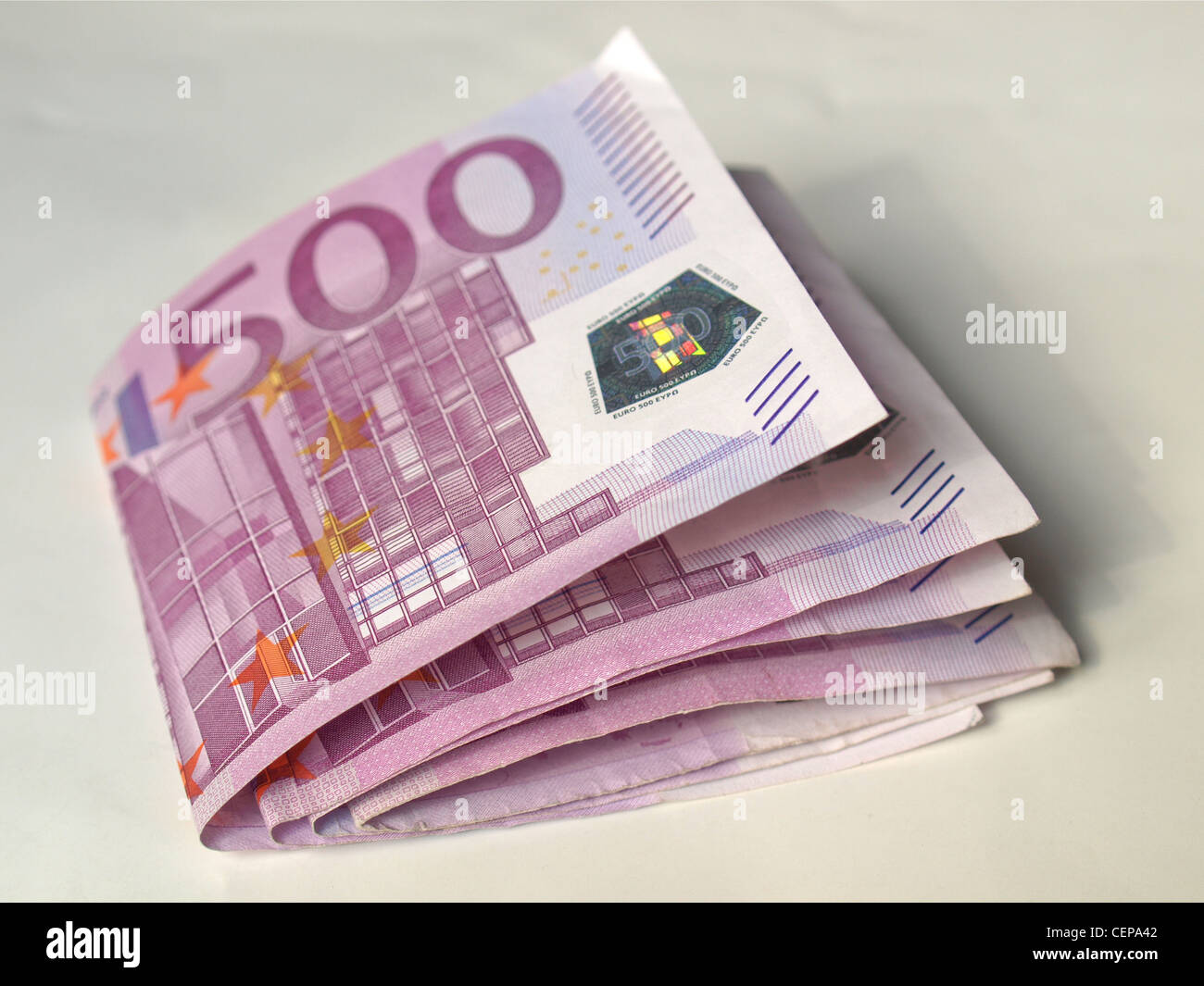 Euro banknote (currency of the European Union) Stock Photo