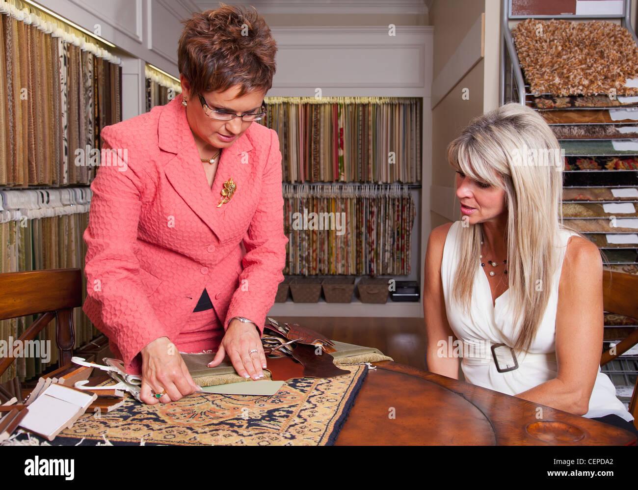 Interior designer client fabric stock photos interior - Clients looking for interior designers ...