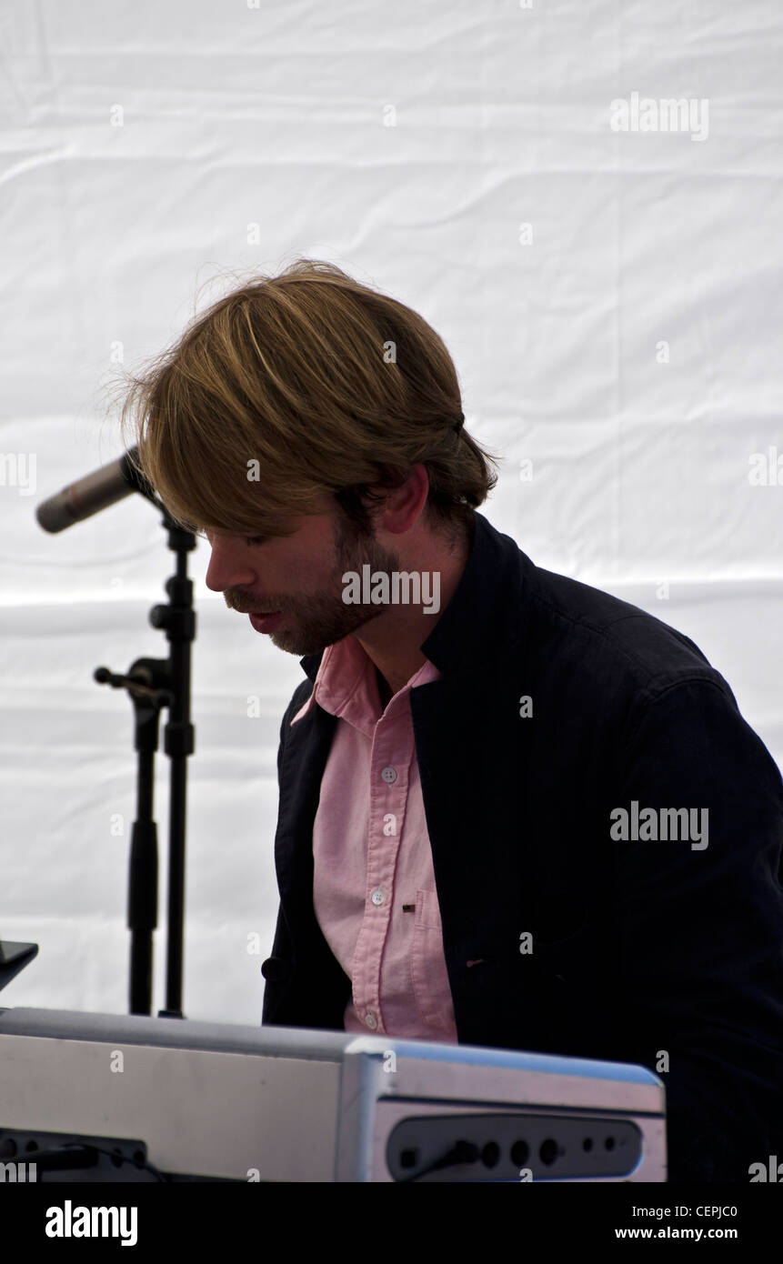 David Partick playing with the Lorna Reid Quartet at the opening of the Edinburgh Jazz and Blues Festival. - Stock Image