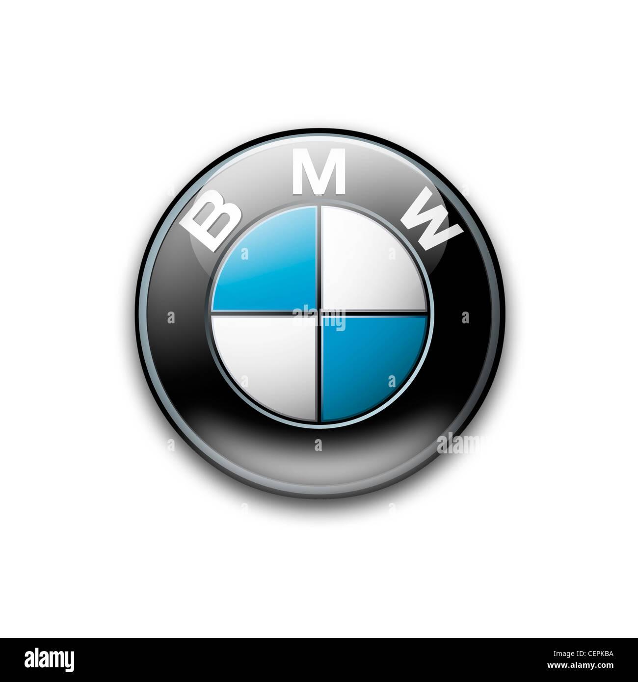 BMW logo symbol icon - Stock Image