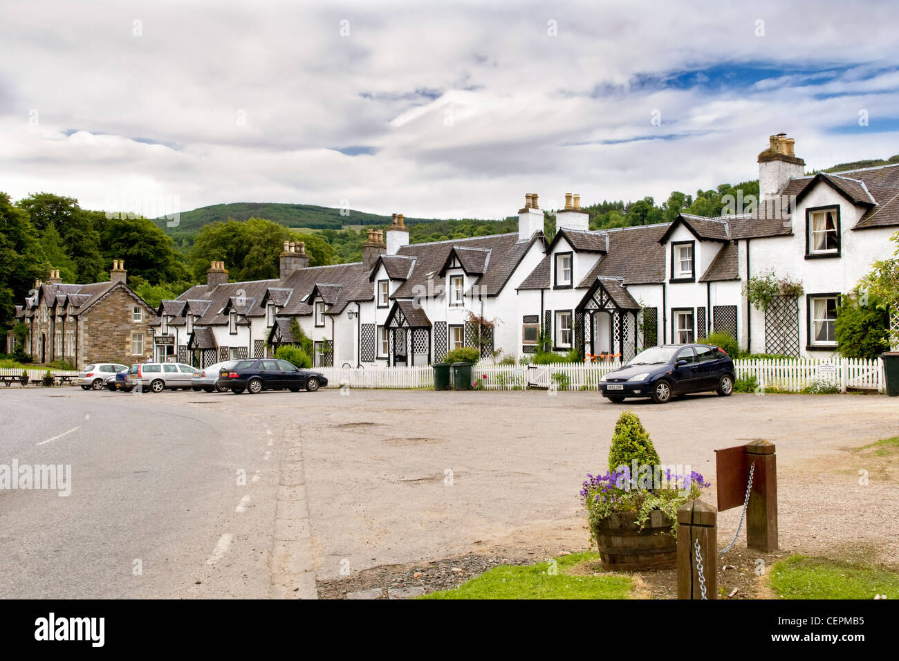 The Scottish village of Kenmore,Tayside taken in summer - Stock Image