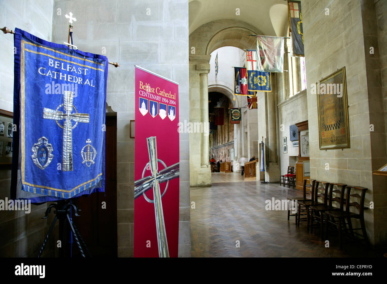 Interior view of the grand Belfast Cathedral. - Stock Image