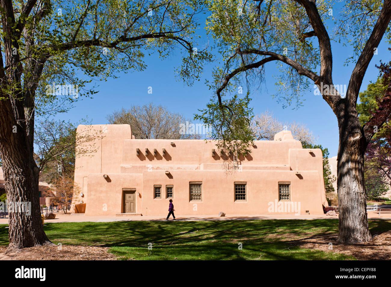 Alumni Memorial Chapel, UNM, Albuquerque - Stock Image