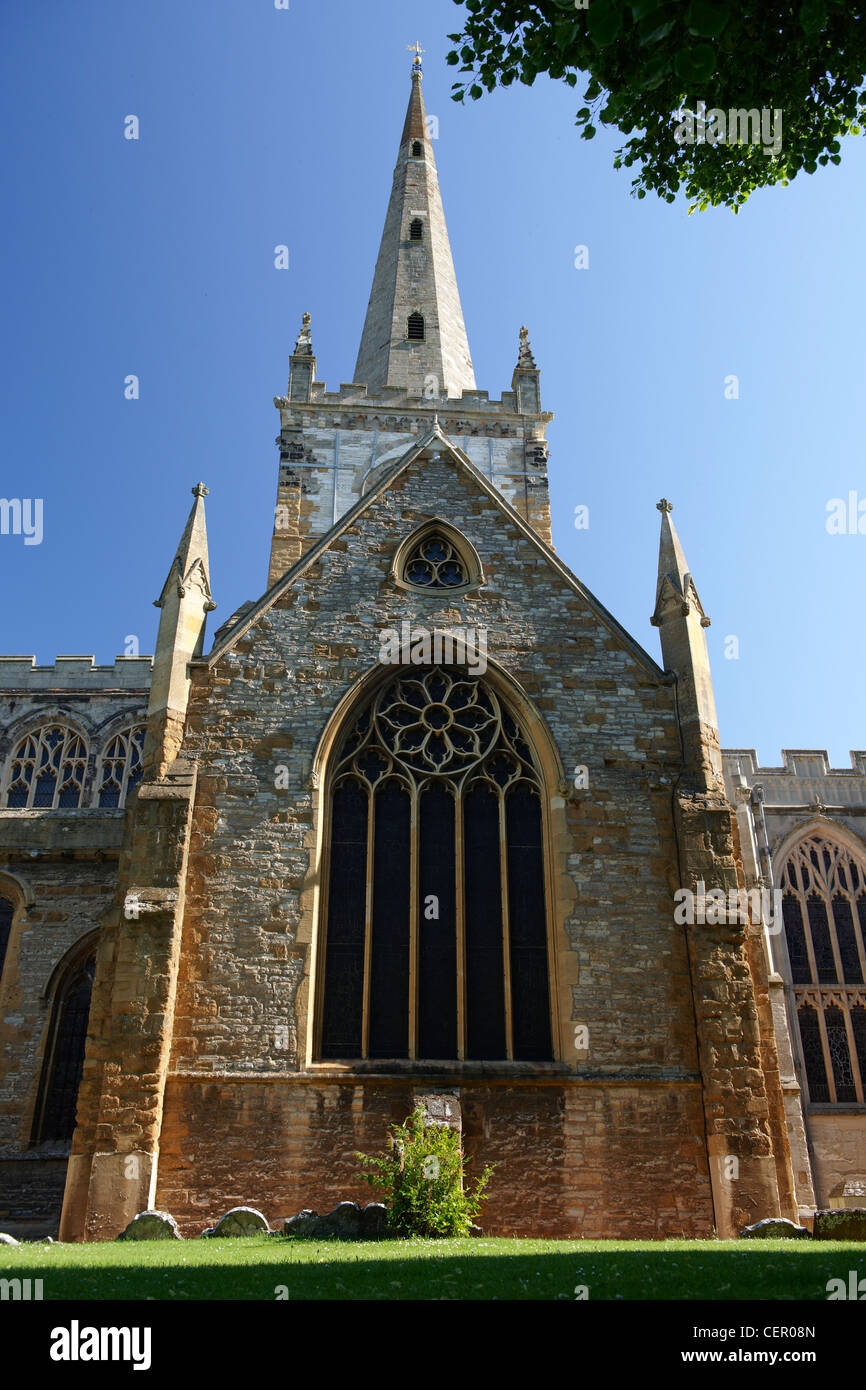 The Collegiate Church of the Holy and Undivided Trinity. William Shakespeare was baptised and buried in this church. - Stock Image