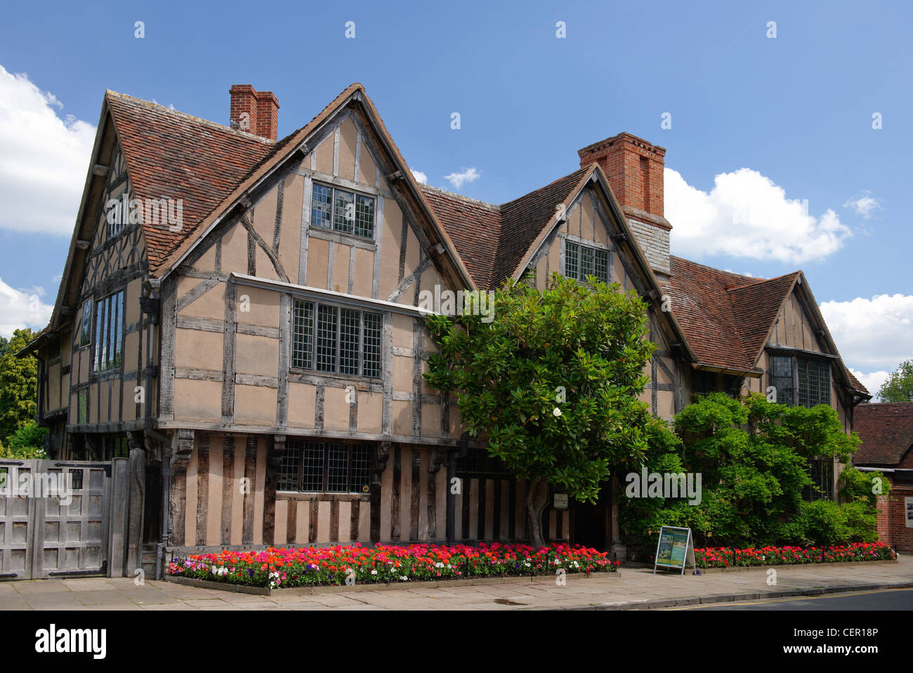 Hall's Croft, once the home of Shakespeare's daughter Susanna who married Doctor John Hall in 1607 after - Stock Image
