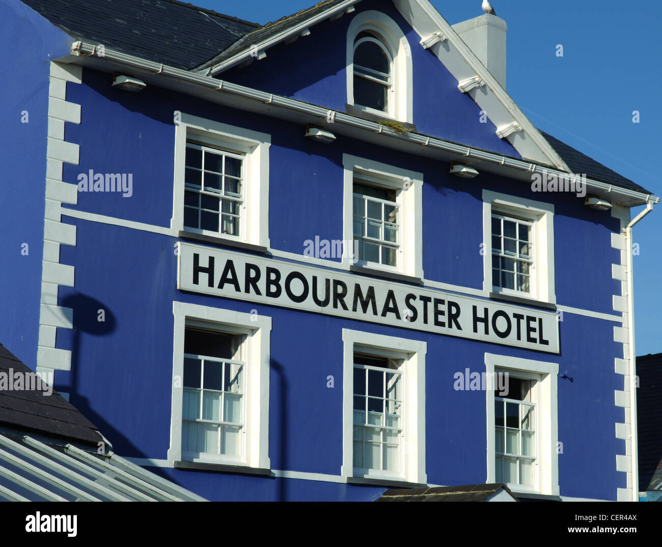 Exterior of the the Harbourmaster Hotel. - Stock Image