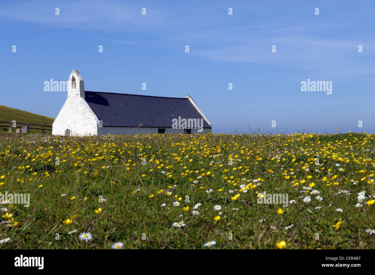 View of Mwnt Church. - Stock Image