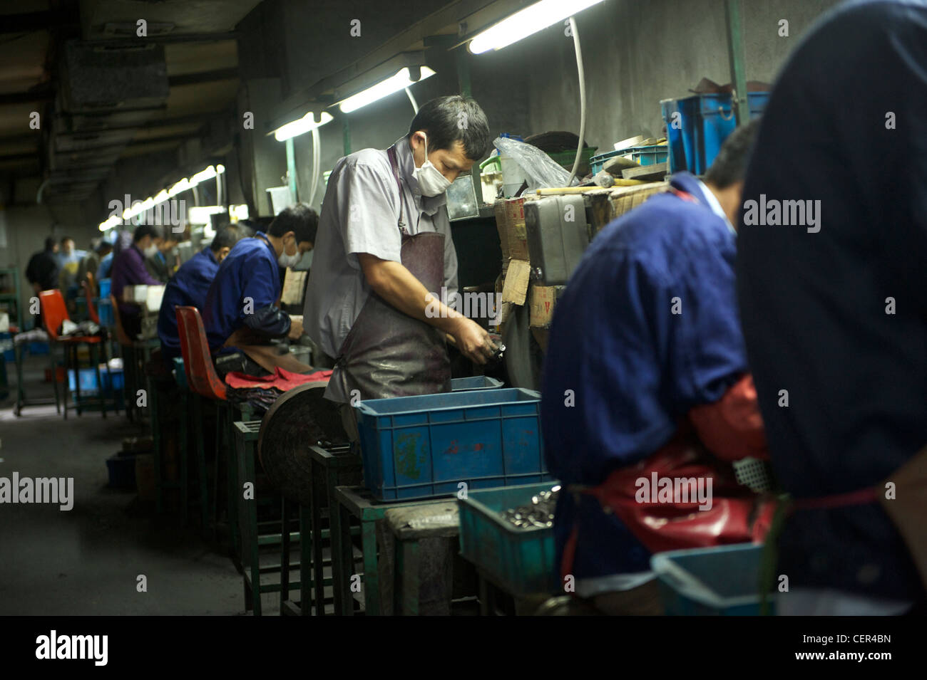 A cigarette lighters factory in Wenzhou, Zhejiang province, China. 09-Nov-2011 - Stock Image