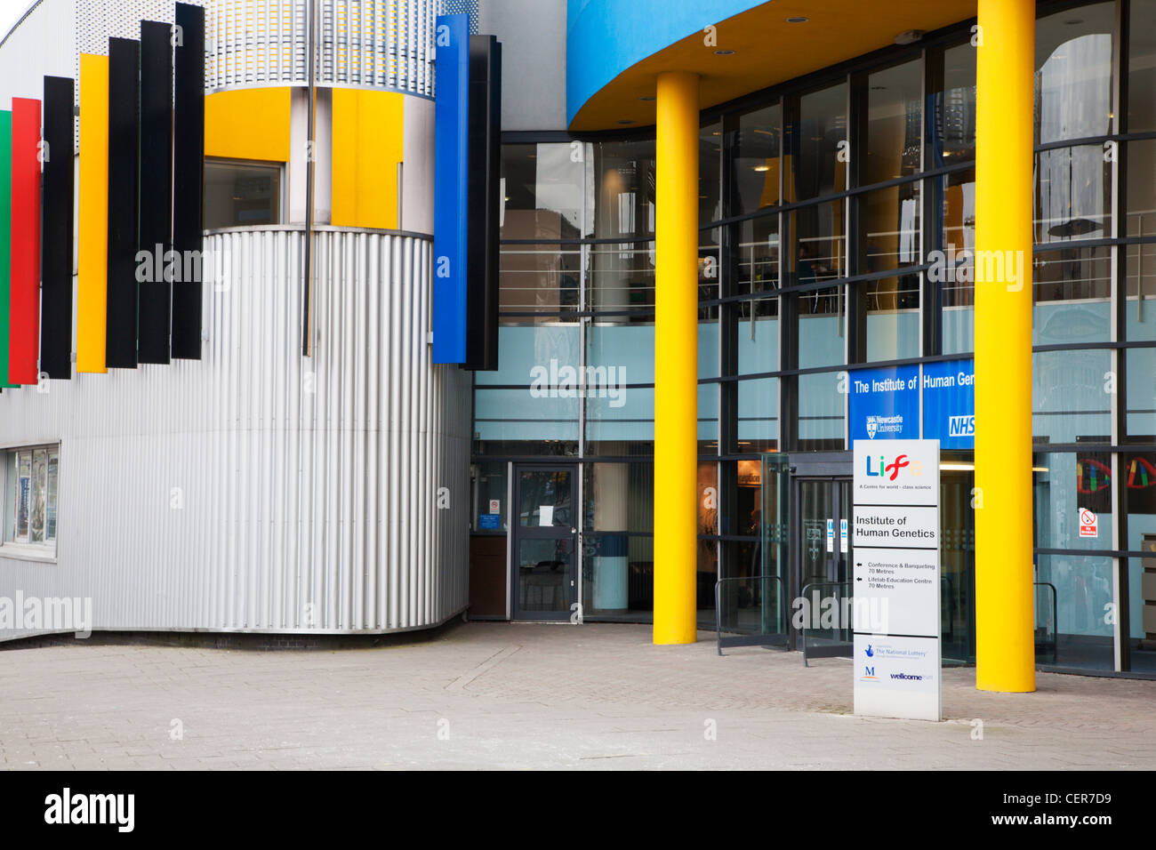 Newcastle University NHS Institue of Human Genetics at Life Science Centre Newcastle upon Tyne England - Stock Image