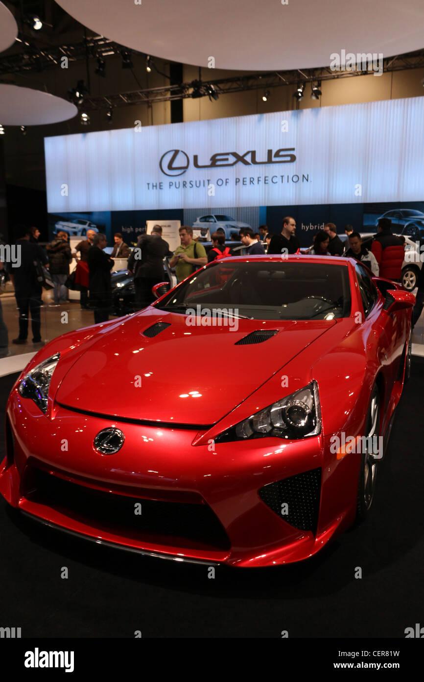 Red Lexus Lfa Concept Sports Car Stock Photo 43537141 Alamy