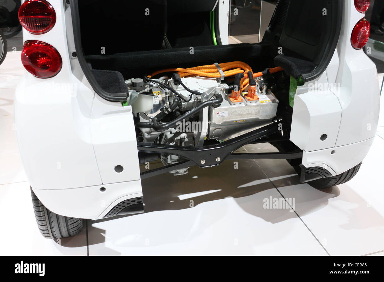 Electric Car Battery Mitsubishi Miev Stock Photo 43537229 Alamy