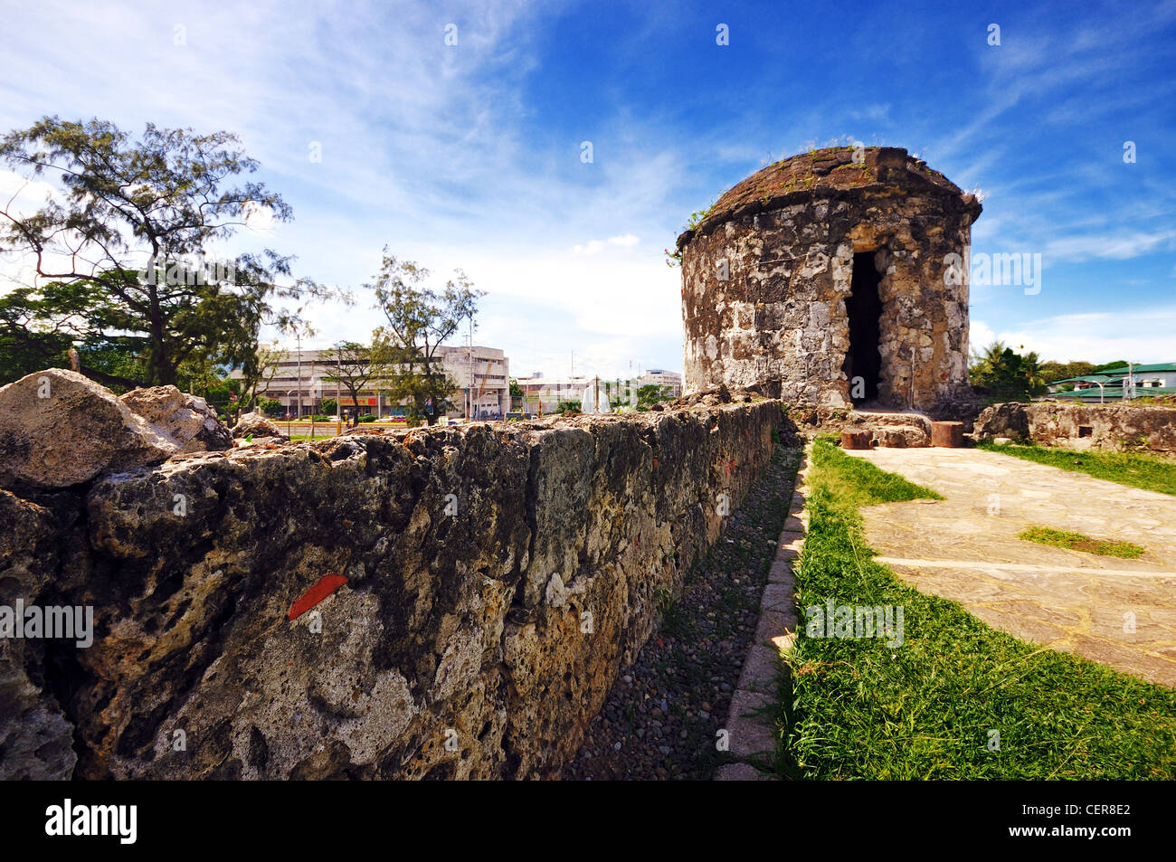 One of the watchtowers at Fort San Pedro in Cebu, Philippines - Stock Image