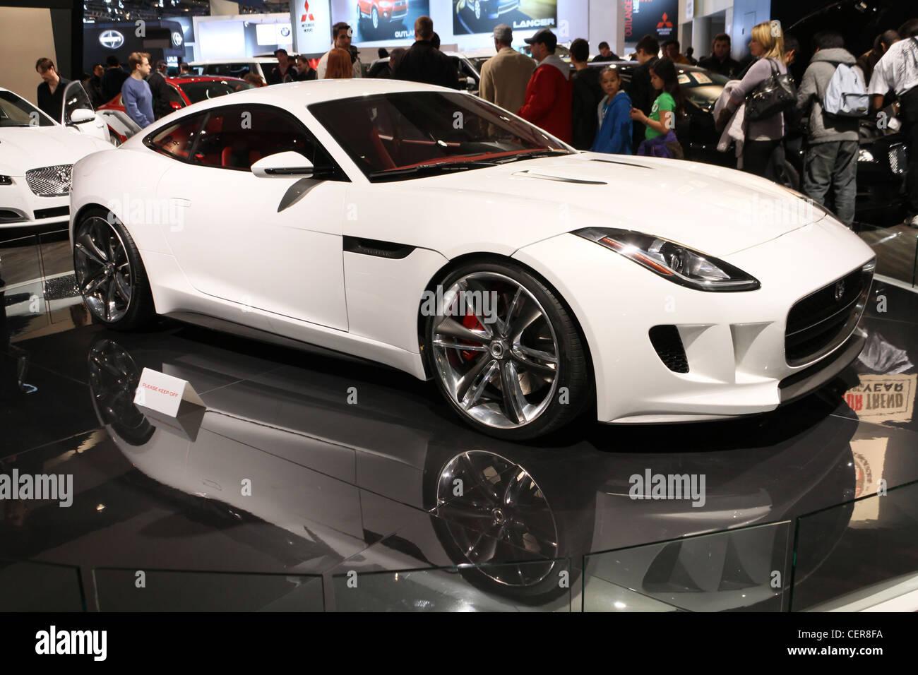 White Expensive Luxury Sports Car Jaguar Cx16 Stock Photo 43537518
