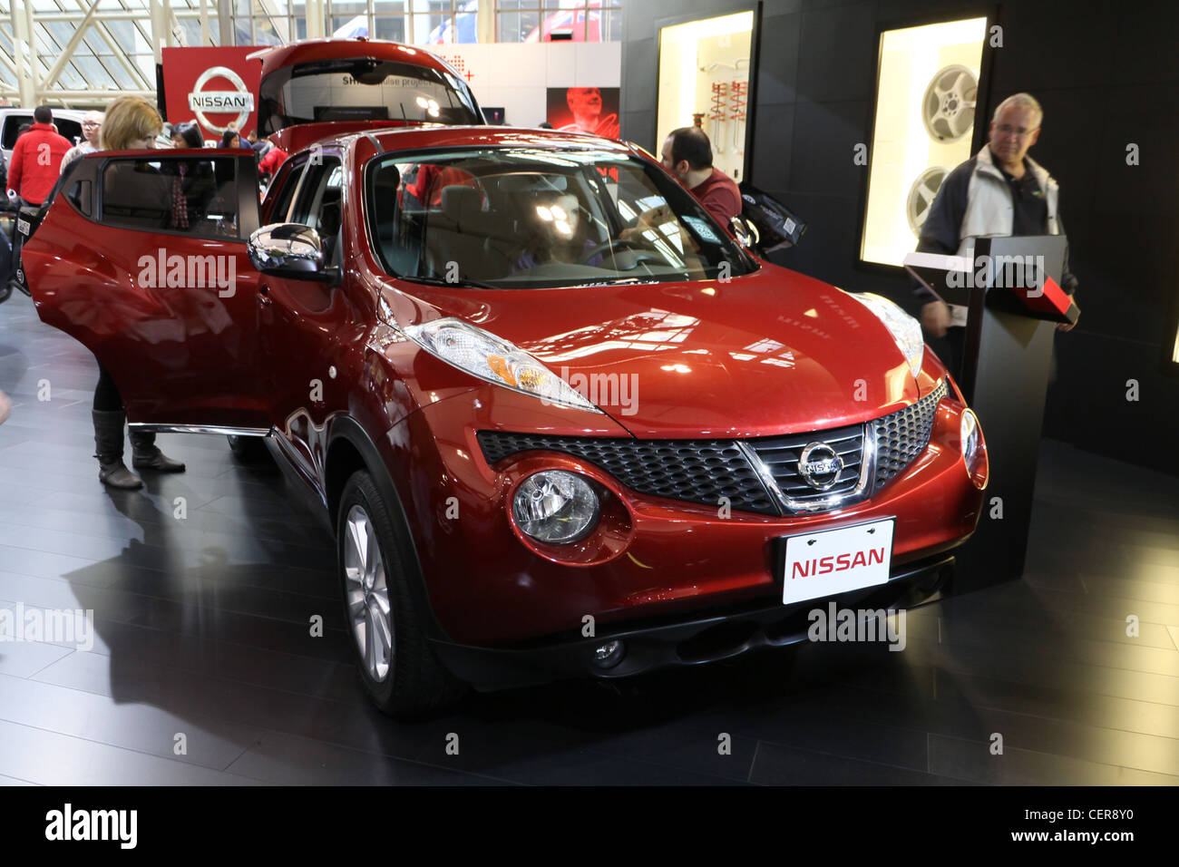 Red Nissan Juke Crossover Vehicle   Stock Image