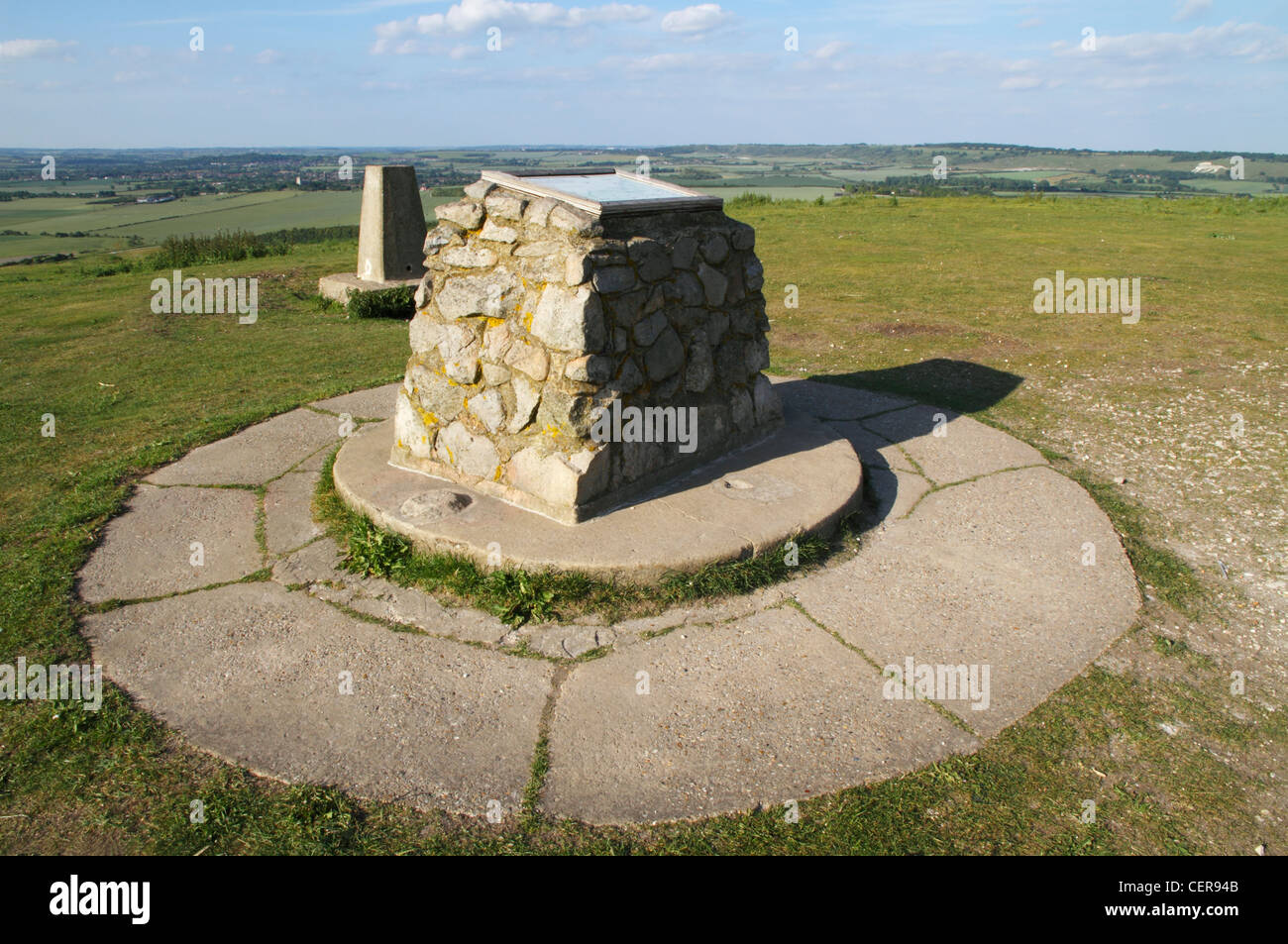 Ivinghoe Beacon, a prominent landmark in the Chiltern Hills marking the starting point of the Ridgeway long-distance - Stock Image