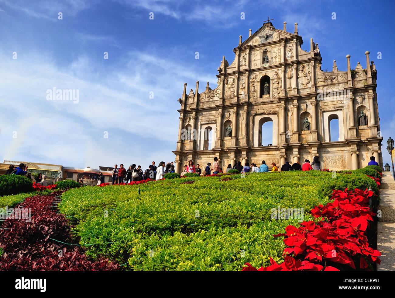 Ruins of St. Paul's in Macau Stock Photo