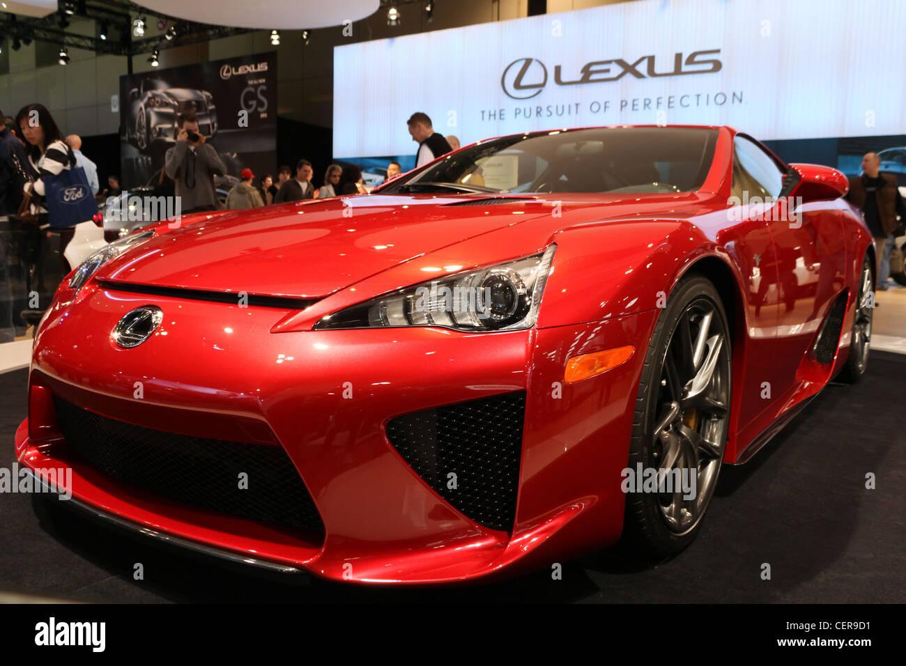 Red Sports Concept Car Lexus Lfa Stock Photo 43538237 Alamy