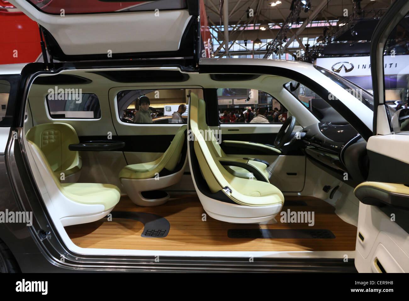 Futuristic Concept Car Interior Seats Stock Photo 43538356 Alamy