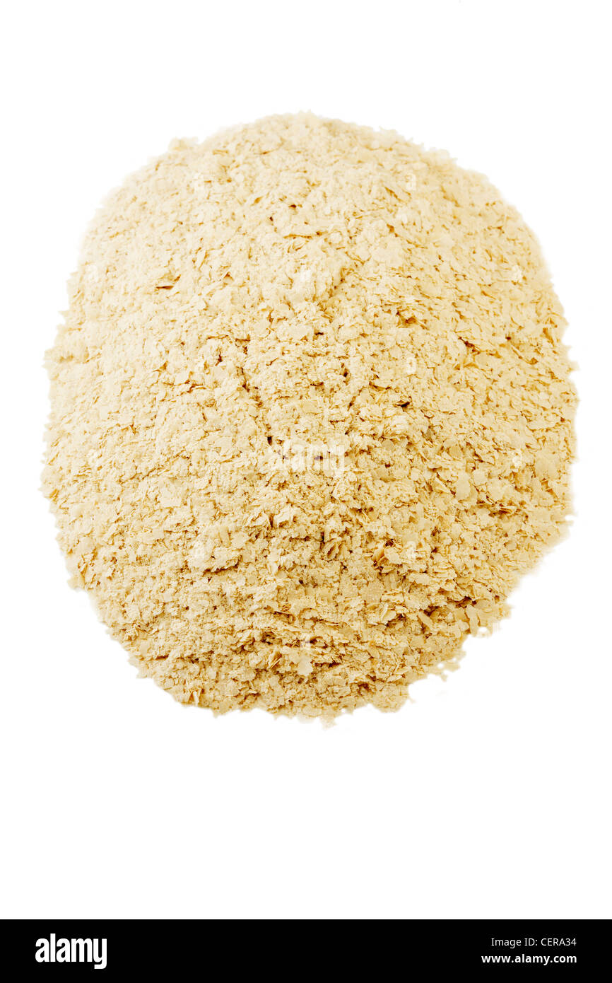 Nutritional Yeast flakes - Stock Image